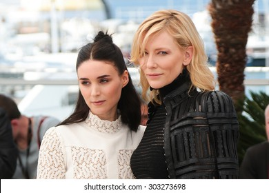 Cate Blanchett, Rooney Mara,  attend the 'Carol' Photocall during the 68th annual Cannes Film Festival on May 17, 2015 in Cannes, France.