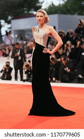 Cate Blanchett walks the red carpet ahead of the 'Suspiria' screening during the 75th Venice Film Festival at Sala Grande on September 1, 2018 in Venice, Italy.