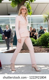 Cate Blanchettt attends the photocall for Jury during the 71st annual Cannes Film Festival at Palais des Festivals on May 8, 2018 in Cannes, France.
