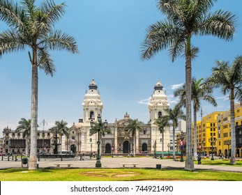 Catedral de Lima and Plaza de Armas, the landmark of  Peru.
