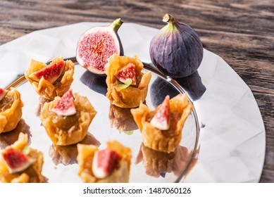 catering appetizers with fresh fig