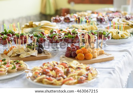 Catering Banquet Wedding Table Setting On Stock Photo Edit Now - Catering table setting