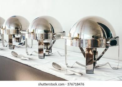 Catering buffer for breakfast at hotel resort restaurant - Light Vintage Filter
