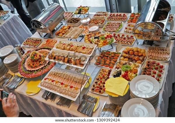 Awe Inspiring Catering Buffet Table Delicious Food Events Stock Photo Download Free Architecture Designs Scobabritishbridgeorg