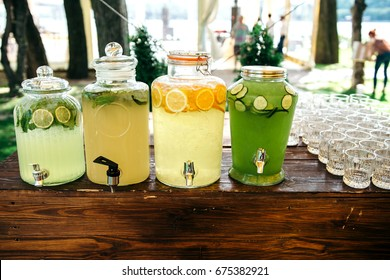 Catering. Drinks on wedding party