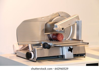 Catering Equipment for Producing Slices of Cooked Meat.