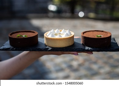 Catering food tasty food sweets tarts chocolate tart lemon tart pie dessert chocolate bakery