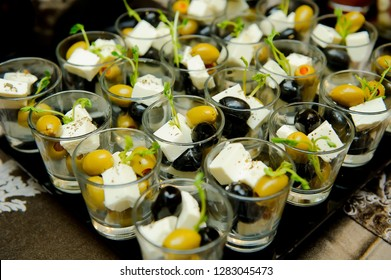 catering Fourchette,buffet table, Canape, sandwiches, snacks, holiday table, sliced, glasses, fourchette catering table setting,aperitif Fourchette holidays wedding