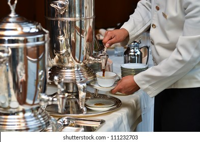 A catering service with a American coffe