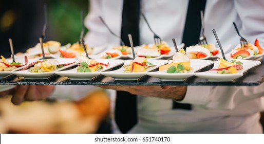 Catering Service Finger Bites Food Buffet Slate Tray Slate Tray