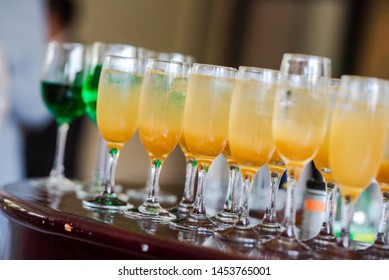 A catering service with variety of beverages