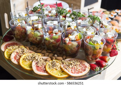 Catering service, vegetable salad with feta cheese