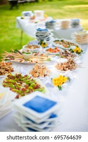 Catering for summer wedding buffet food outdoors