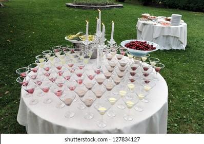 Catering, Wedding reception area
