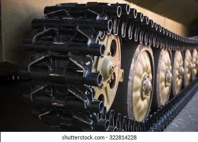 Caterpillar armored vehicle. Close-up