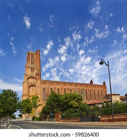 Cathedral of Albi - exterior view of brick structure, France, UNESCO