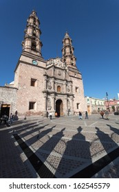 Cathedral in the ancient city Aguascalientes, Mexico