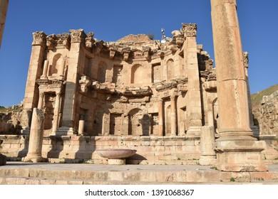 Cathedral Apse Long Shot, Jerash, Jordan