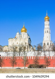 Cathedral of the Archangel Michael and Ivan the Great bell tower, Moscow Kremlin, Russia