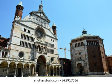 Cathedral Assumption of the Blessed Virgin Mary and baptistery, Cremona, Italy