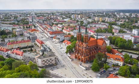 Cathedral Basilica of the Assumption of the Blessed Virgin Mary in Bialystok. Aerial view