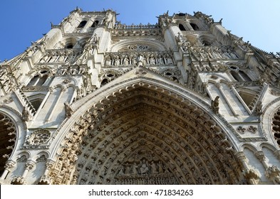 Cathedral Basilica of Our Lady of Amiens,  Amiens, Picardy region, France. A Unesco site
