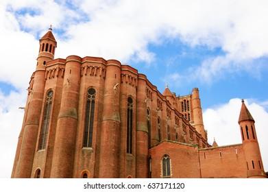 Cathedral Basilica of Saint Cecilia in Albi (France). UNESCO World Heritage Site.