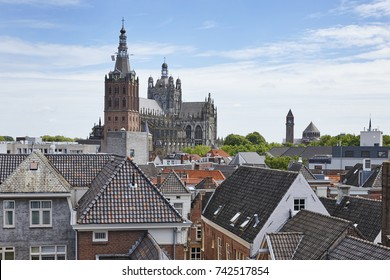The Cathedral Basilica of Saint John Evangelist or the Saint-John Cathedral of the city of ''s-Hertogenbosch' in the province of 'Noord-Brabant', the Netherlands