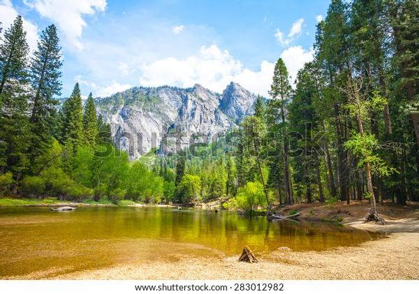 Cathedral Beach, Yosemite National Park, California, USA