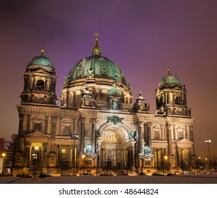 cathedral Berlin at evening time