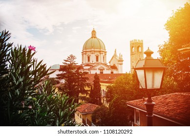 cathedral in Brescia  panoramic view. Italy