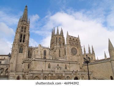 Cathedral of Burgos (Spain), one of the crown jewels of Spanish art. Construction began in 1221, under the aegis of the king Fernando III.