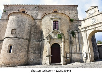 Cathedral and byzantine church of Haghia Kyriake in village Gerace in Calabria,Italy