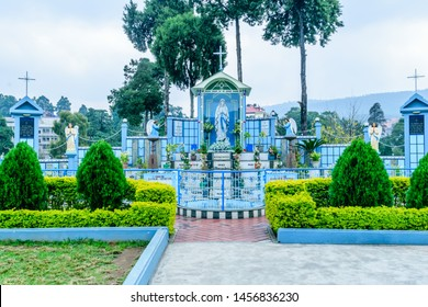Cathedral Catholic Church, Shillong India 25 December 2018 - Cathedral of Mary Help of Christians, named after mother Mary of Jesus Christ, first church of Shillong built in Gothic architectural style