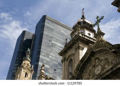 Cathedral in the center of Rio de Janeiro, Brazil