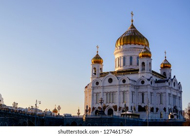Cathedral of Christ the Saviour in Moscow in winter