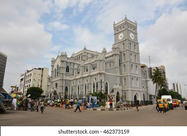 CATHEDRAL CHURCH, LAGOS, NIGERIA - AUGUST 2, 2015: Front view of a cathedral church in Lagos Nigeria on August 2, 2015