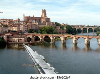 Cathedral, city and river Tarn - Albi - Region of the Tarn - France