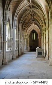 cathedral cloister of Evora in Portugal