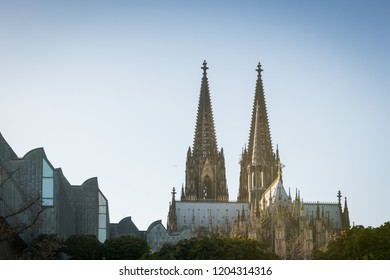 Cathedral of Cologne on a sunny day in fall