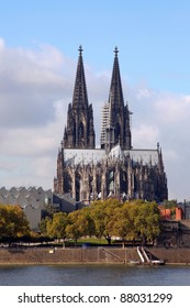 the Cathedral of Cologne and the Rhine River