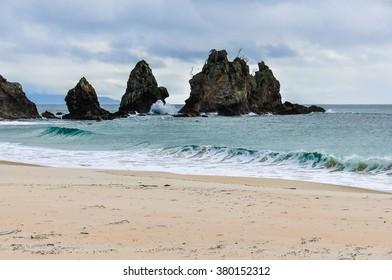 Cathedral Cove Beach in the vivid Coromandel Peninsula in New Zealand