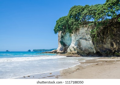 Cathedral Cove in Coromandel Peninsula on the North Island of New Zealand.