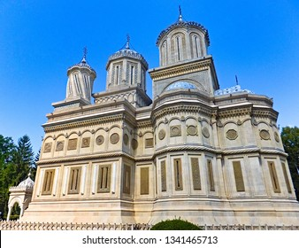 The Cathedral of Curtea de Argeș is a Romanian Orthodox cathedral inRomania. It is located on the grounds of the Curtea de Argeș Monastery, faced with pale grey limestone