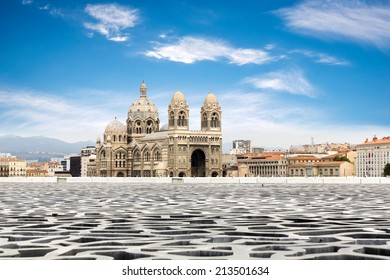 Cathedral de la Major - one of the main church and local landmark in Marseille, France