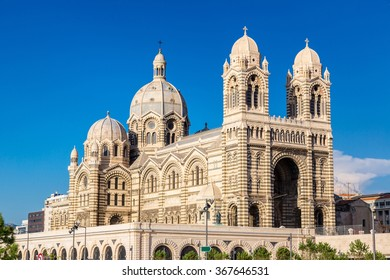 Cathedral de la Major in a summer day in Marseille, France