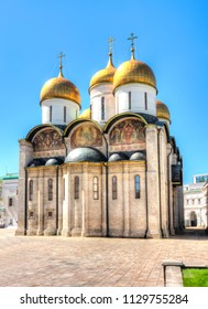 Cathedral of the Dormition (Uspensky Sobor) or Assumption Cathedral of Moscow Kremlin, Russia