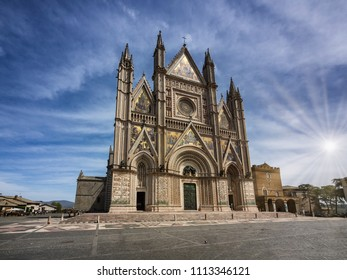 The Cathedral duomo in Orvieto Umria, Italy