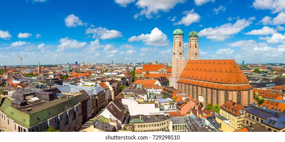 Cathedral Frauenkirche in Munich, Germany in a beautiful summer day