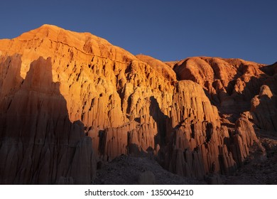 Cathedral Gorge State Park at Sunset, Nevada